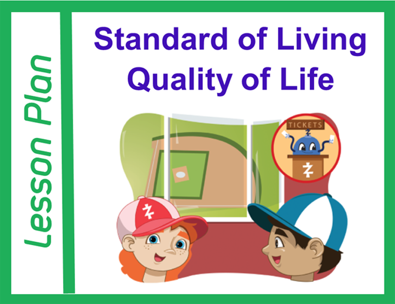 Image for standard of living and quality of life lesson plan