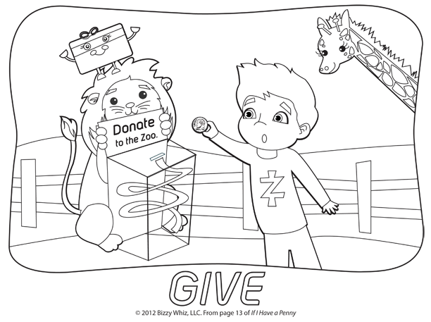 Donate Coloring Page Thumbnail