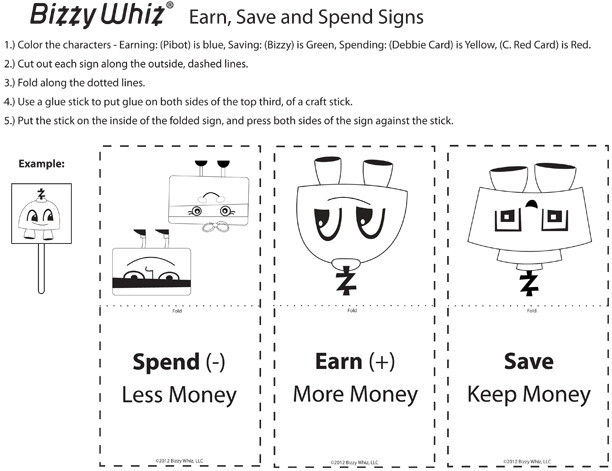 Earn Save Spend Signs Thumbnail