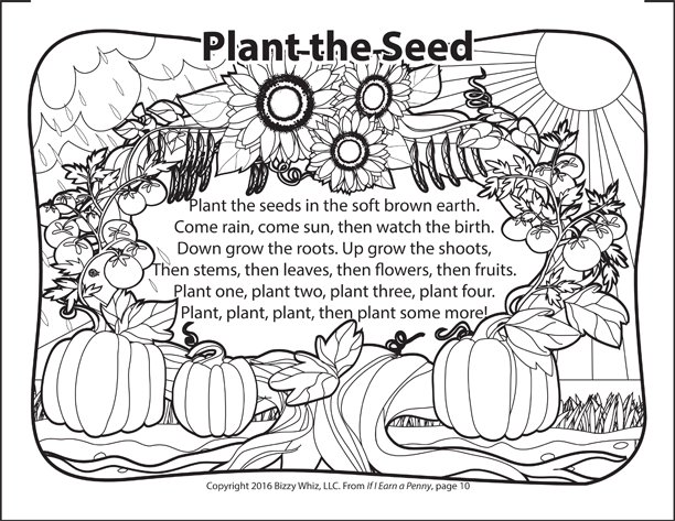 Plant the Seed Coloring Thumbnail